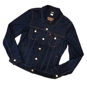 Levi's Trucker dark blue jean jacket Medium NWOT